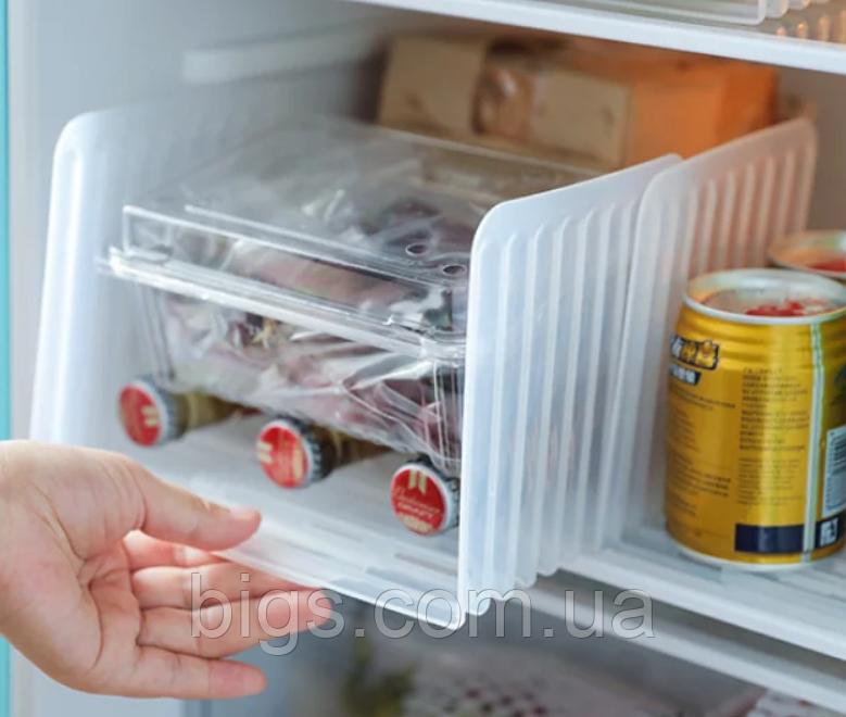 Висувний органайзер для холодильника 14(23)*14*14.5 см