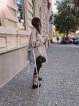 Женская рубашка-пальто кашемировая с поясом и накладными карманами, фото 3