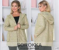 Женский кардиган, ткань : турецкая вязка шерсть 76% котон 24% высокого качества с карманами,(48-54), фото 1