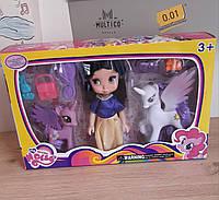 Кукла с единорогами и аксессуарами
