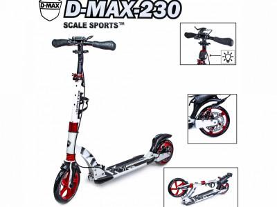 Cамокат двухколесный Scale Sports. D-Max-230 дисковый тормоз белый