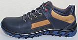 Кросівки шкіряні підліткові на шнурках від виробника модель ІВ-226, фото 3
