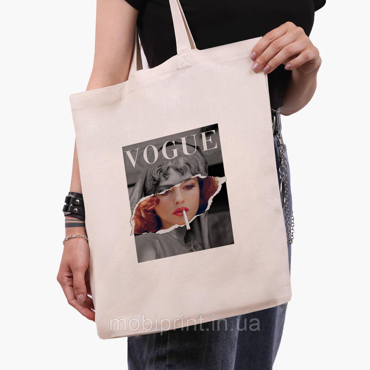 Еко сумка шоппер Ренесанс-Моніка Беллуччі (Monica Bellucci) (9227-1588) екосумка шопер 41*35 см