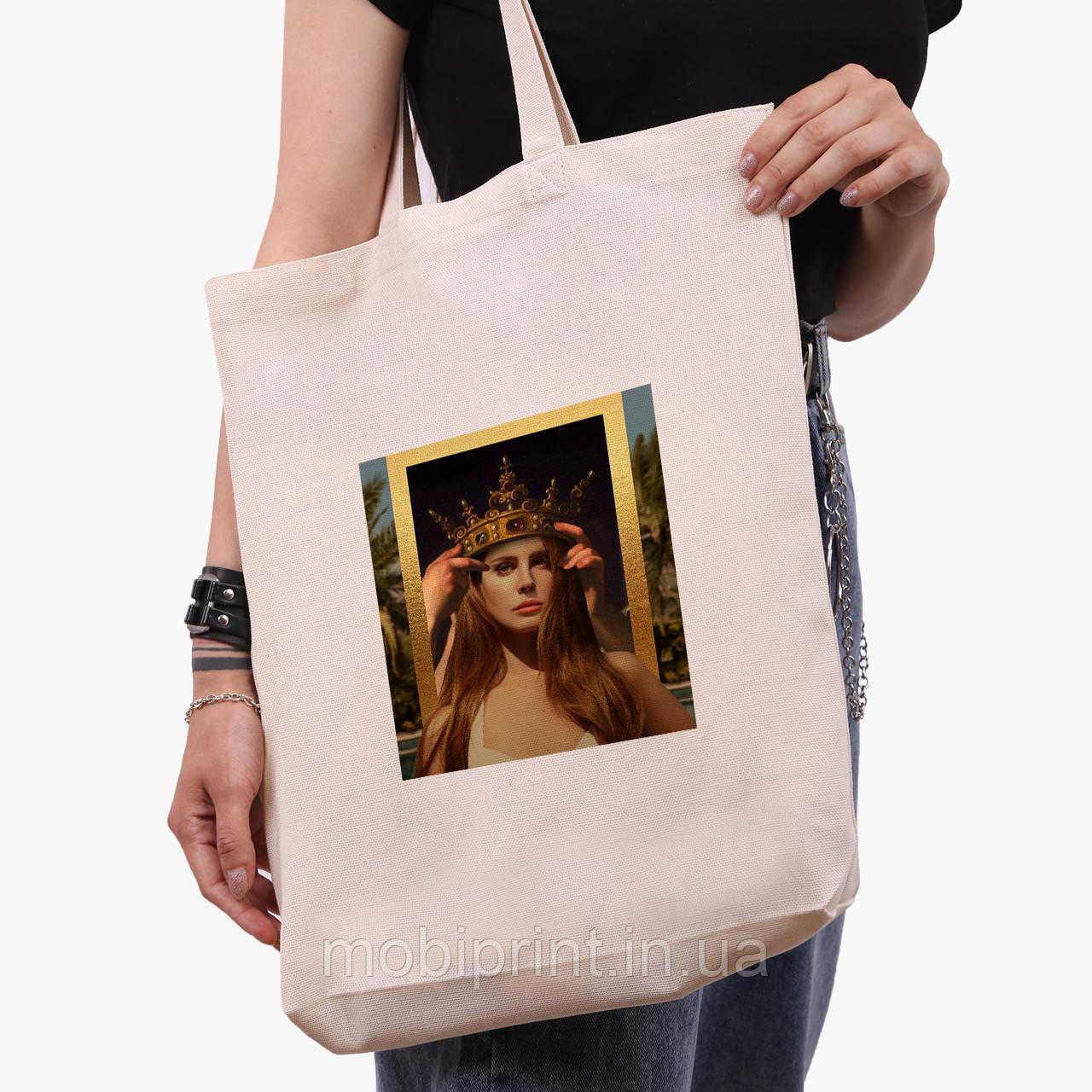 Эко сумка шоппер белая Ренессанс-Лана дел Рей (Lana Del Rey) (9227-1590-1)  экосумка шопер 41*39*8 см