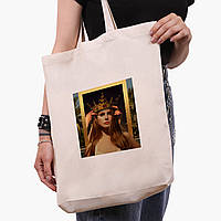 Эко сумка шоппер белая Ренессанс-Лана дел Рей (Lana Del Rey) (9227-1590-1)  экосумка шопер 41*39*8 см , фото 1