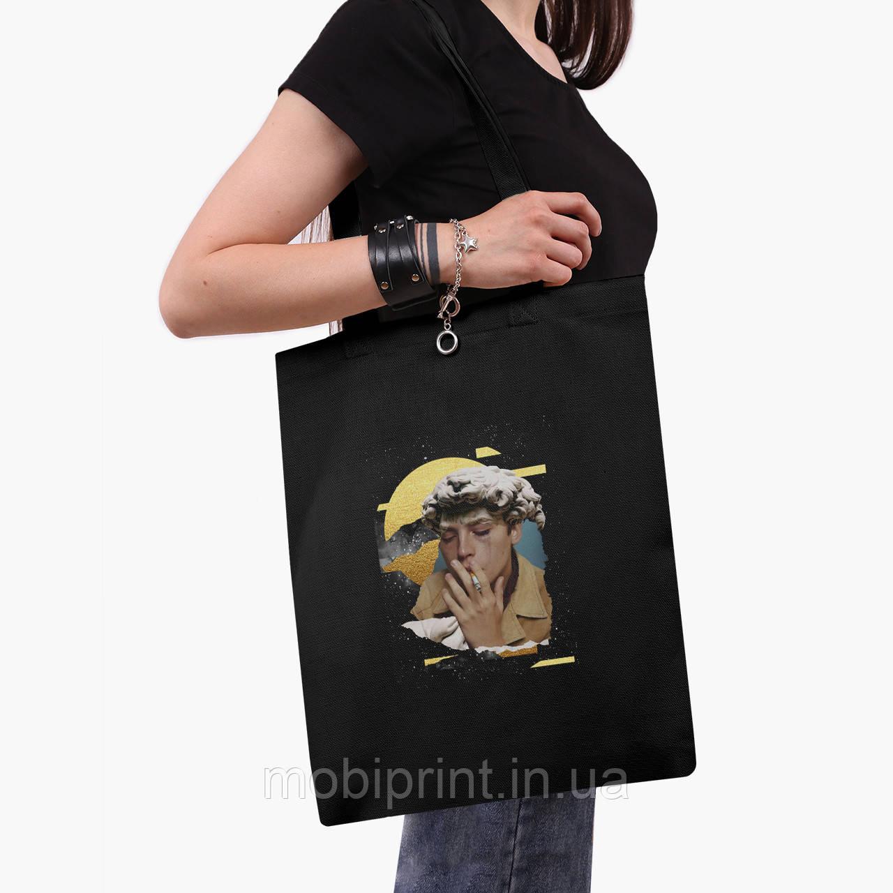 Еко сумка шоппер чорна Ренесанс Джаггед Джонс (Riverdale) (9227-1591-2) екосумка шопер 41*35 см