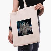 Эко сумка шоппер Ренессанс-Ангел (Angel) (9227-1592)  экосумка шопер 41*35 см , фото 1