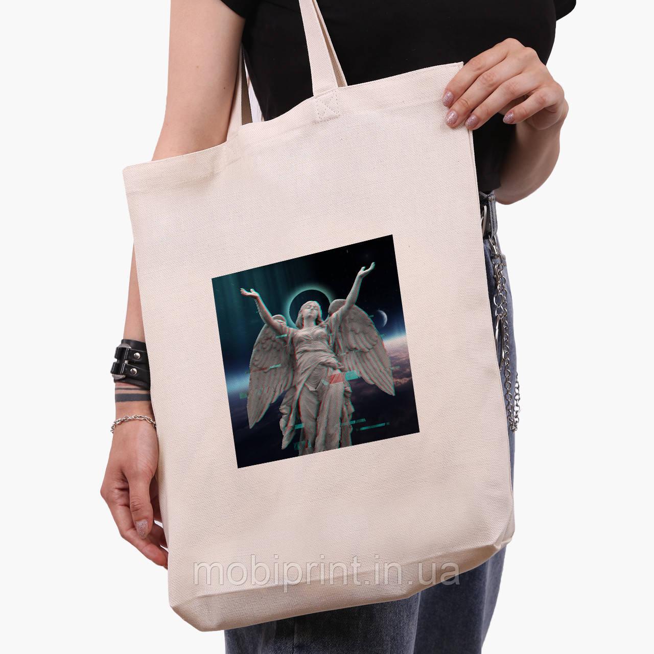 Эко сумка шоппер белая Ренессанс-Ангел (Angel) (9227-1592-1)  экосумка шопер 41*39*8 см