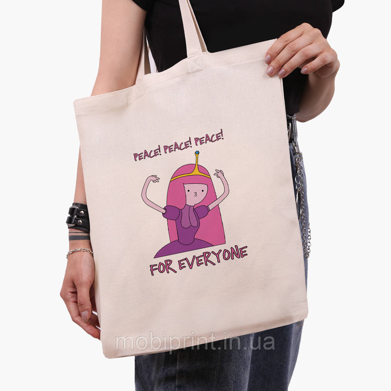 Еко сумка шоппер з принтом Принцеса бубльгум (Adventure Time) (9227-1576)