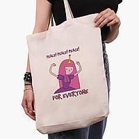 Эко сумка шоппер белая Принцесса бубльгум (Adventure Time) (9227-1576-1)  экосумка шопер 41*39*8 см, фото 1