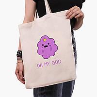 Еко сумка шоппер Принцеса пупырка (Adventure Time) (9227-1575) екосумка шопер 41*35 см, фото 1