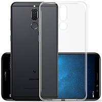Чехол силиконовый для Huawei mate 10 lite ультратонкий прозрачный (хуавей мат 10 лайт)