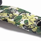 Детский самокат MAXI. Military. Чёрные светящиеся колёса., фото 5