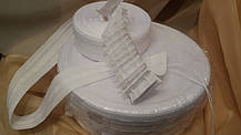 Шторная лента С-22, 40мм тканевая, фото 3
