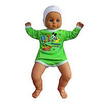 Детский боди для мальчика с длинным рукавом Плуто интерлок