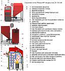 Твердотопливный котел 32 кВт РЕТРА-4М, котел длительного горения с бункером, фото 8
