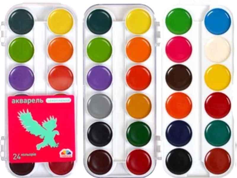 Краски акварельные Гамма 24цв Захоплення пластик 200109 (без кисточки)