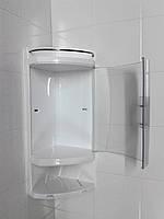 Полка для ванной пластик белый