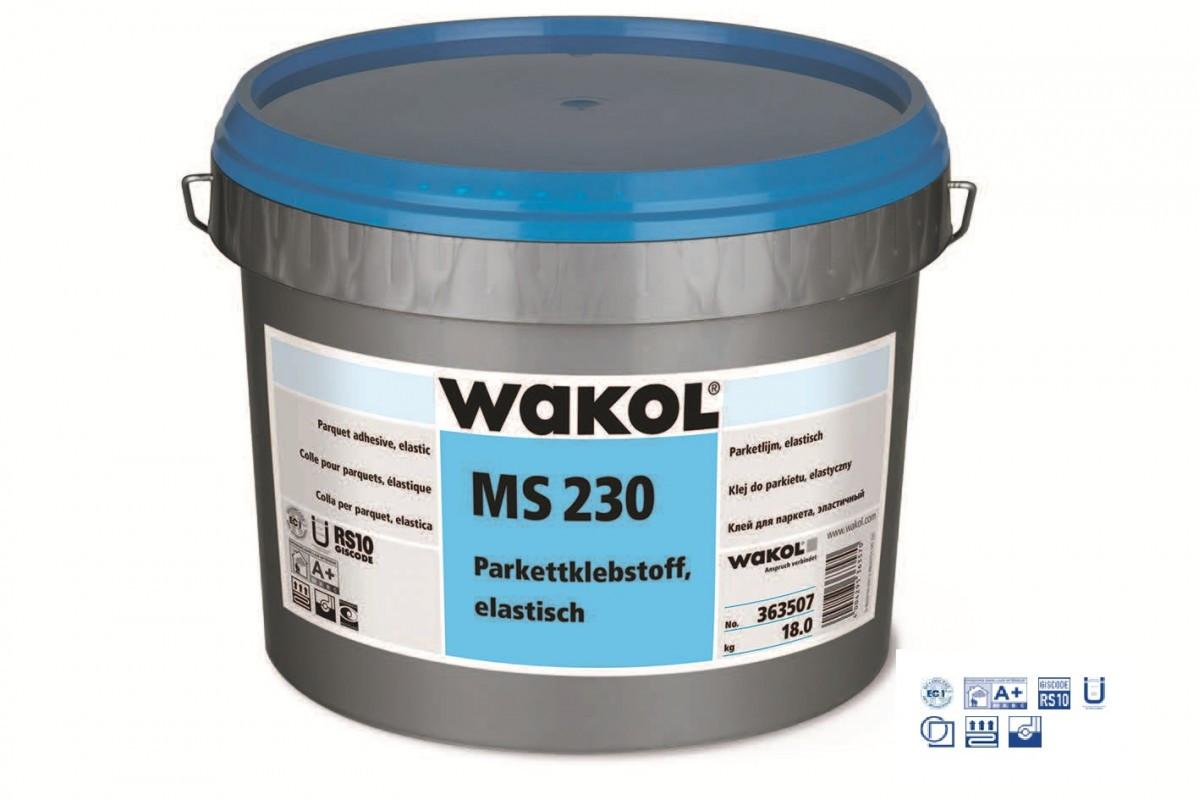 Клей для паркету Wakol MS230 еластичний 18кг (Німеччина)