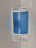Полка для ванной пластик синий