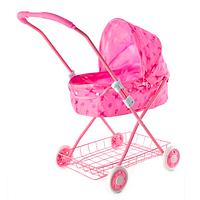 Складная коляска для кукол Melogo с корзиной и люлькой