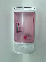 Полка пластик для ванной комнаты розовый