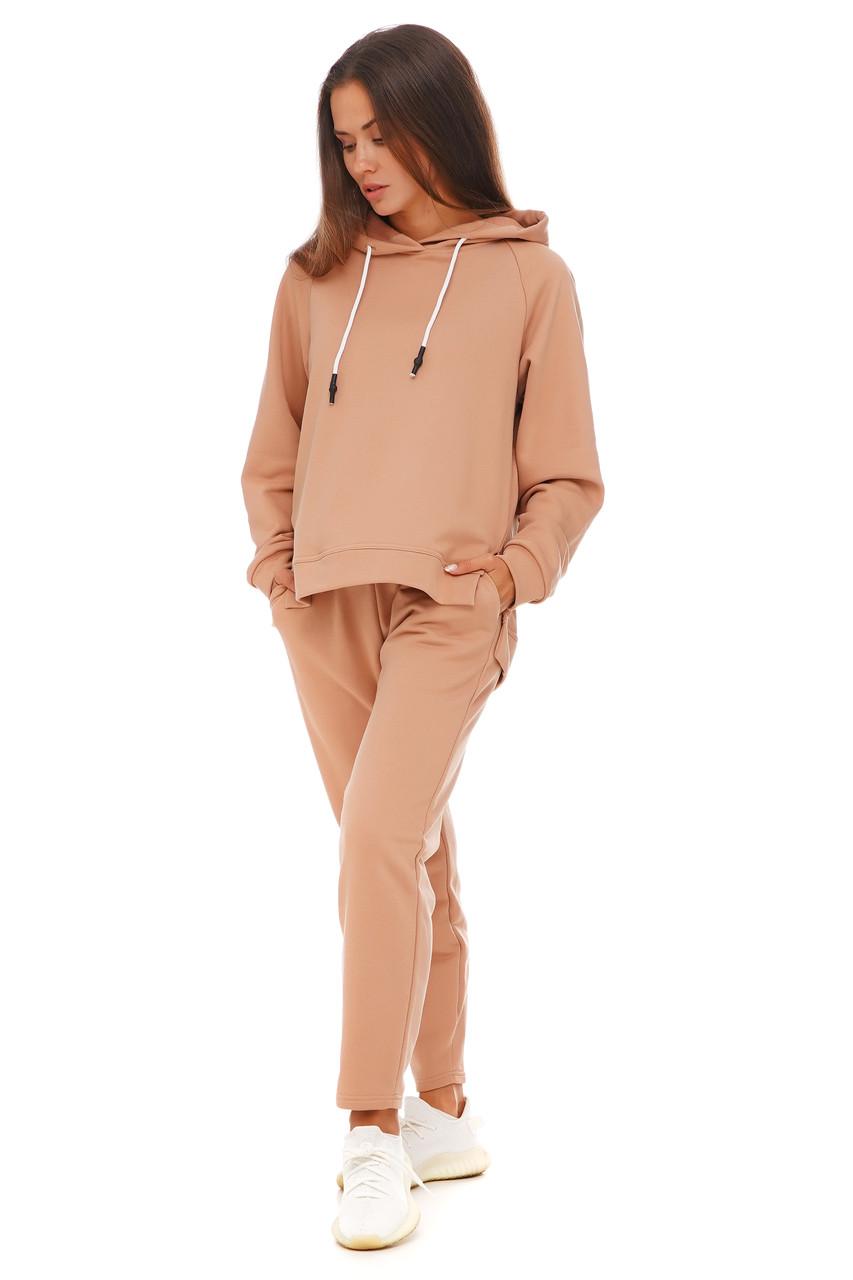 Карамельный спортивный костюм кофта и штаны