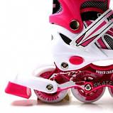 Ролики Power Champs. Pink, размер 34-37, фото 3
