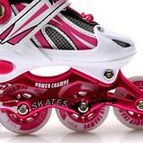 Ролики Power Champs. Pink, размер 34-37, фото 4