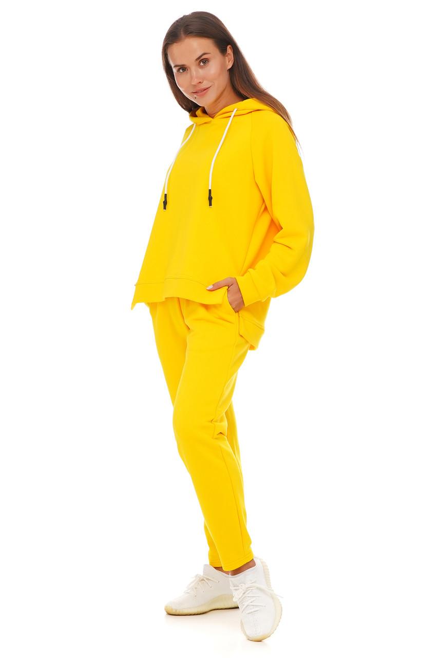 Лимонный спортивный костюм кофта и штаны