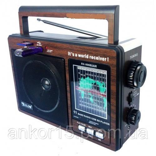 Радіоприймач GOLON RX - 9966 портативна колонка USB/ SD/ MP3/ FM