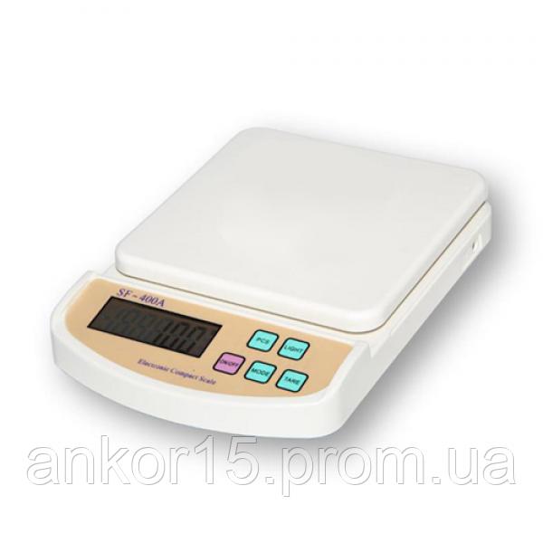 Электронные кухонные весы 5 кг Kitchen scale SF-400A с подсветкой