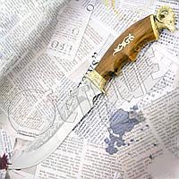 """Нож туристический нескладной, эксклюзивный Спутник """"Архар"""" с ножнами. На клинке гравировка"""