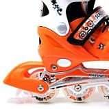 Ролики Scale Sports. Orange, размер 29-33., фото 3