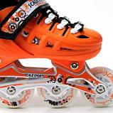 Ролики Scale Sports. Orange, размер 29-33., фото 4