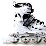 Ролики Scale Sports. White, размер 29-33, фото 2