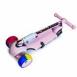 Самока Scooter 3in1.Pink. Складная ручка Cо светом и музыкой Смарт-колеса., фото 3