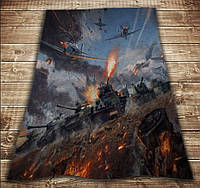 Плед з 3D принтом - Танки in battle War Thunde, фото 1