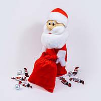 Чехол под шампанское и конфеты Zolushka Дед Мороз 40см красный (4541)