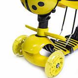 Самокат Scooter Божья коровка 5in1 Yellow, фото 4