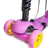 Самокат Scooter Smart 3in1. Лиловый цвет., фото 3