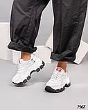Кроссовки женские кожаные белые, фото 3