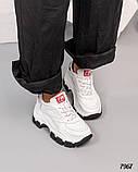 Кроссовки женские кожаные белые, фото 5