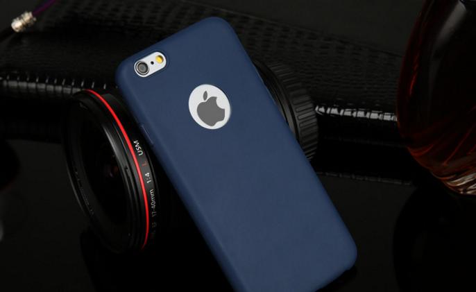 Силиконовый cиний для Iphone 6 6S