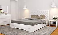 Кровать деревянная Камелия с мягкой спинкой двуспальная, фото 1