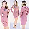 Спортивне плаття в капюшоном і емблемою, фото 3