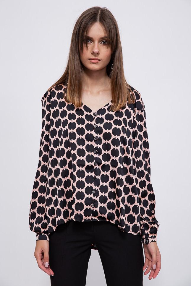 Блуза 115R169D цвет Черно-розовый