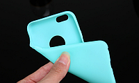 Силиконовый бирюзовый чехол для Iphone 6 6S, фото 1