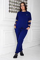 Женский повседневный костюм с брюками больших размеров, фото 1