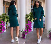 Спортивное платье худи с капюшоном спортивное платье с капюшоном до 54 размера